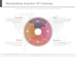 Merchandising Execution Ppt Summary