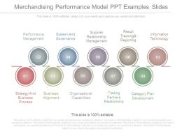 Merchandising Performance Model Ppt Examples Slides
