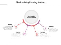 Merchandising Planning Solutions Ppt Powerpoint Presentation Inspiration Objects Cpb