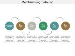 Merchandising Selection Ppt Powerpoint Presentation Gallery Maker Cpb