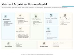 Merchant Acquisition Business Model And Merchant Ppt Powerpoint Presentation Ideas Graphics Example