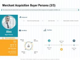 Merchant Acquisition Buyer Persona Calm Ppt Powerpoint Presentation Infographic Template Grid
