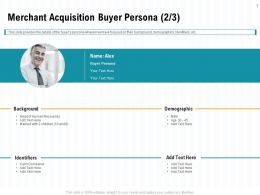 Merchant Acquisition Buyer Persona L1996 Ppt Powerpoint Presentation Summary Professional
