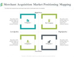 Merchant Acquisition Market Positioning Mapping Needs Ppt Powerpoint Presentation Ideas Graphics