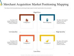 Merchant Acquisition Market Positioning Mapping Ppt File Display