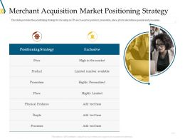 Merchant Acquisition Market Positioning Strategy Ppt Powerpoint Gallery Slides