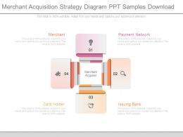 Merchant Acquisition Strategy Diagram Ppt Samples Download