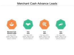 Merchant Cash Advance Leads Ppt Powerpoint Presentation Pictures Master Slide Cpb