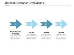 Merchant Expense Evaluations Ppt Powerpoint Presentation Model Deck Cpb