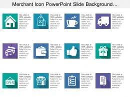 Merchant Icon Powerpoint Slide Background Designs