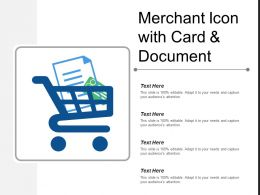 Merchant Icon With Card And Document