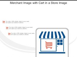 Merchant Image With Cart In A Store Image