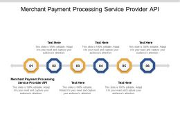 Merchant Payment Processing Service Provider API Ppt Powerpoint Presentation Inspiration Cpb