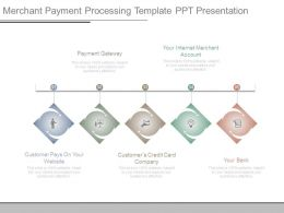 Merchant Payment Processing Template Ppt Presentation