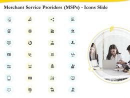 Merchant Service Providers Icons Slide Ppt Clipart