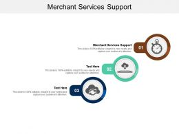 Merchant Services Support Ppt Powerpoint Presentation Ideas Graphics Pictures Cpb