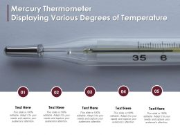 Mercury Thermometer Displaying Various Degrees Of Temperature