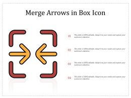 Merge Arrows In Box Icon
