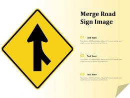 Merge Road Sign Image