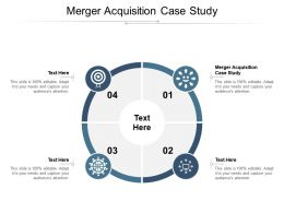 Merger Acquisition Case Study Ppt Powerpoint Presentation Layouts Designs Cpb