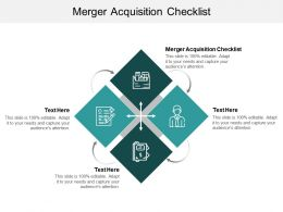 Merger Acquisition Checklist Ppt Powerpoint Presentation Portfolio Aids Cpb