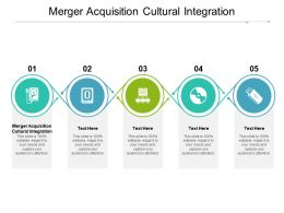 Merger Acquisition Cultural Integration Ppt Powerpoint Presentation Ideas Cpb
