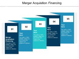 Merger Acquisition Financing Ppt Powerpoint Presentation Layouts Inspiration Cpb