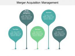 Merger Acquisition Management Ppt Powerpoint Presentation File Graphics Cpb