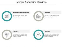 Merger Acquisition Services Ppt Powerpoint Presentation Infographic Template Display Cpb