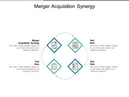 Merger Acquisition Synergy Ppt Powerpoint Presentation Infographics Information Cpb