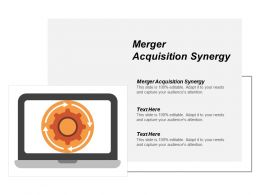 Merger Acquisition Synergy Ppt Powerpoint Presentation Portfolio Format Ideas Cpb