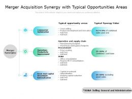 Merger Acquisition Synergy With Typical Opportunities Areas
