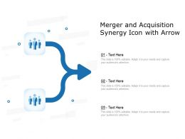 Merger And Acquisition Synergy Icon With Arrow