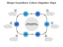 Merger And Acquisitions Culture Integration Steps Ppt Powerpoint Sample Cpb