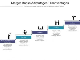 Merger Banks Advantages Disadvantages Ppt Powerpoint Presentation Icon Show Cpb