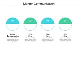 Merger Communication Ppt Powerpoint Presentation Styles Portfolio Cpb