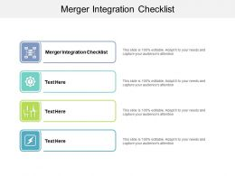 Merger Integration Checklist Ppt Powerpoint Presentation Icon Template Cpb