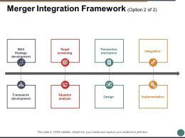 Merger Integration Framework Ppt Powerpoint Presentation File Deck