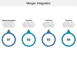 Merger Integration Ppt Powerpoint Presentation Infographic Template Format Cpb