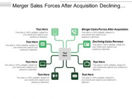 Merger Sales Forces After Acquisition Declining Sales Revenue
