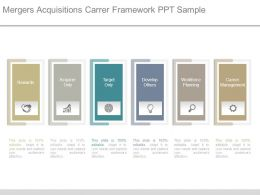 Mergers Acquisitions Career Framework Ppt Sample