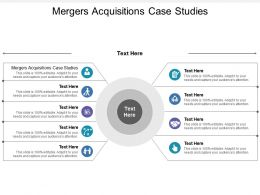 Mergers Acquisitions Case Studies Ppt Powerpoint Presentation Gallery Icon Cpb