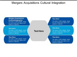 Mergers Acquisitions Cultural Integration Ppt Powerpoint Presentation Icon Influencers Cpb