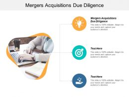 Mergers Acquisitions Due Diligence Ppt Powerpoint Presentation Infographic Template Outline Cpb