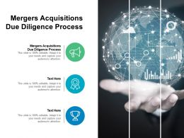 Mergers Acquisitions Due Diligence Process Ppt Powerpoint Presentation Layouts Deck Cpb