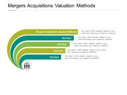 Mergers Acquisitions Valuation Methods Ppt Powerpoint Presentation Slides Cpb