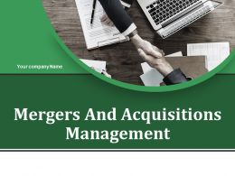 Mergers And Acquisitions Management Powerpoint Presentation Slides