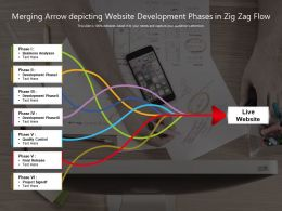 Merging Arrow Depicting Website Development Phases In Zig Zag Flow