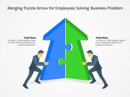 Merging Puzzle Arrow For Employees Solving Business Problem