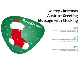 Merry Christmas Abstract Greeting Message With Stocking